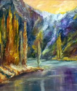 אלחנדרה אציוורי, עצי הצפצפה לאורך הנהר