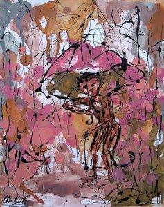 Lam Qui מטרייה של שלום עולמי.