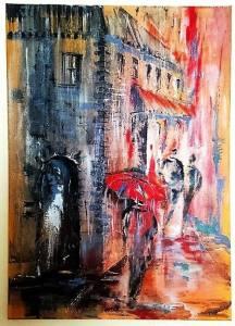 Jelena Straiziene ניקיון הצבעים, יום גשום