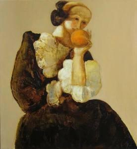 Andrey Aranishev, אישה עם תפוז