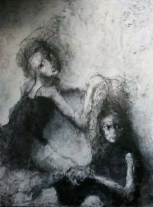 Dagmar Artmuse Scheel , מתוך האוספים, זוג במרתף הנפשות היפוטת.., Moshe Kohen