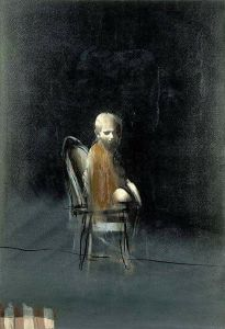 Dagmar Artmuse Scheel עונש האמצע הריק.. כיסא מקבע, כנפיים במקום רגליים HÅKON GULLVÅG