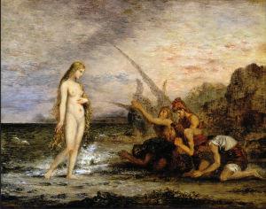 גוסטב מוראו, לידת ונוס, הופהתה מול דייגים, 1866