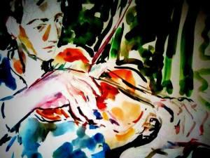 מרים שחורי, הידיים זורמות ברוח, מנגינה של כנר