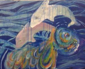 Alegre Lala Avidan Shneider , דמעות של ים, דגים בקינה צבעונית