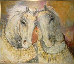 Bartolome Vaccarezza זוג סוסים טרוינים, שם נכון